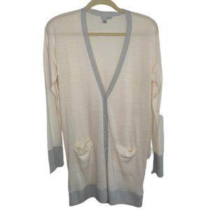 Halogen Women's Knit Button Front Side Zip Long V-